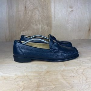 Bally Tempest Navy Buckle Loafer